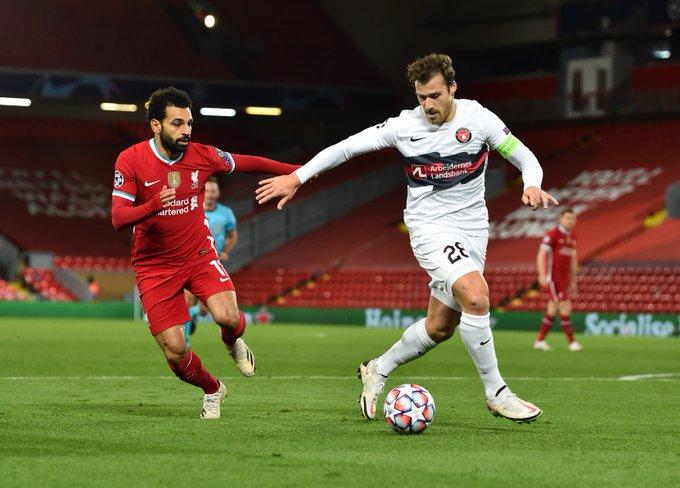 Salah (Liverpool) in azione