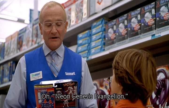 #RobinWilliams aprendiendo de #Evangelion en Retratos de una Obsesión (One Hour Photo), una película de suspenso y drama.  Coincidencias? No lo creo! https://t.co/59kgTkzEPX
