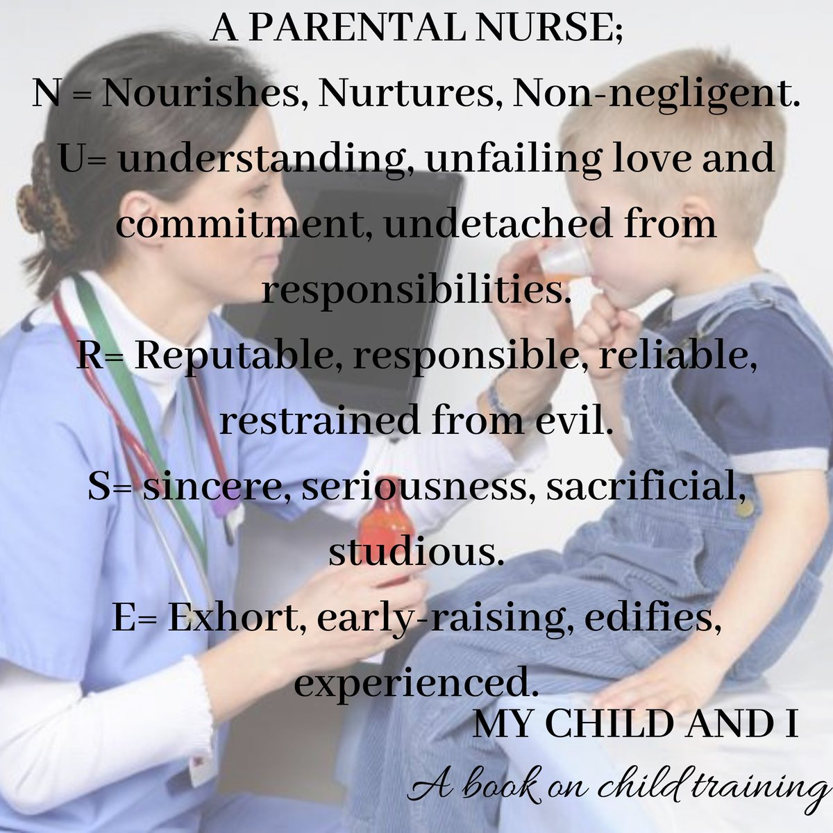 Greetings to all #Parents don't forget you must never forget your #parentingtips in this your present#parenhood We are all #nurses #Nursing the future of our #Children   #childrensbook: My child and I https://t.co/eqypBkTNXr