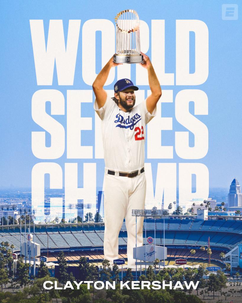 Clayton Kershaw is finally a World Series Champion 🏆 https://t.co/1cn0Us1qiq