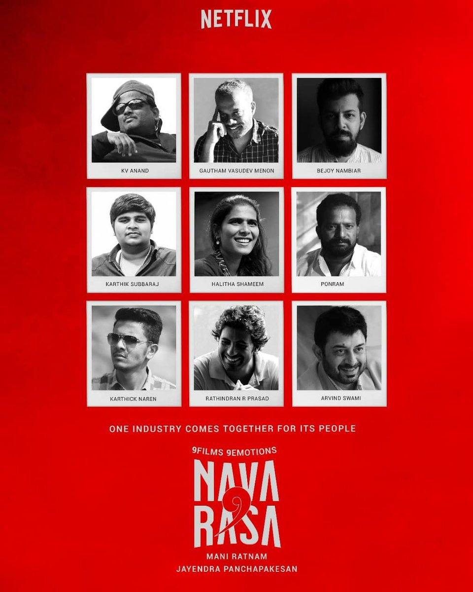 9 emotions. 9 stories. 1 industry comes together for its people #TamilFilmIndustryComesTogether #NAVARASA. Coming Soon on @NetflixIndia