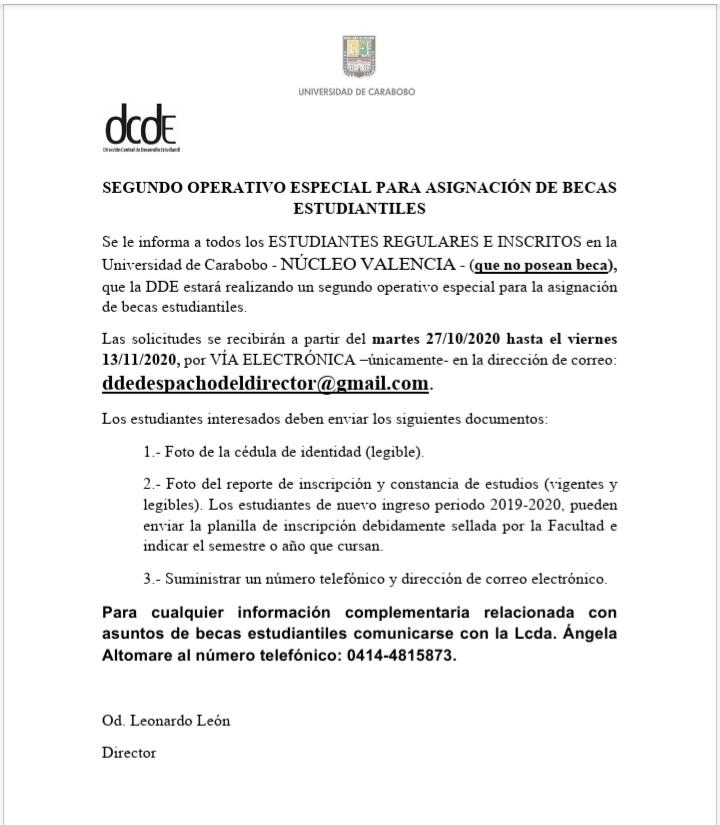 #Atención Segundo operativo especial para Asignaciones de Becas Estudiantiles https://t.co/J1OS45K1a0