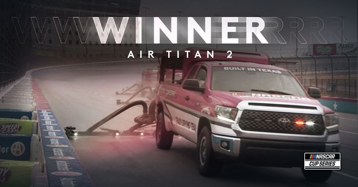 Lots of fast laps and hard work put out there today, but congrats to Air Titan 2 for winning Tuesday at @TXMotorSpeedway. #NASCAR https://t.co/0txkpkvwck
