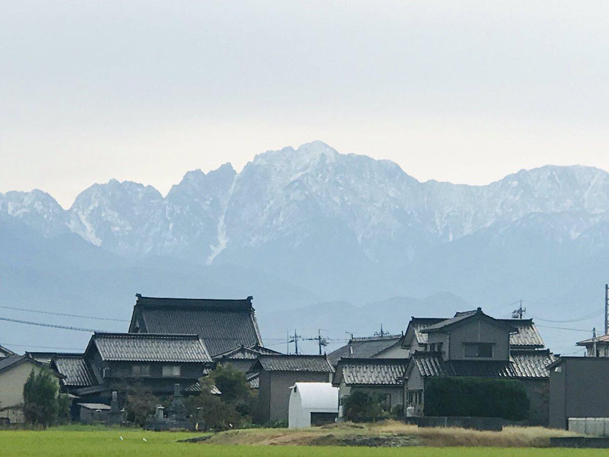 #立山連峰 #富山市  おはよー!立山さん。。 https://t.co/eMKM3omqQS