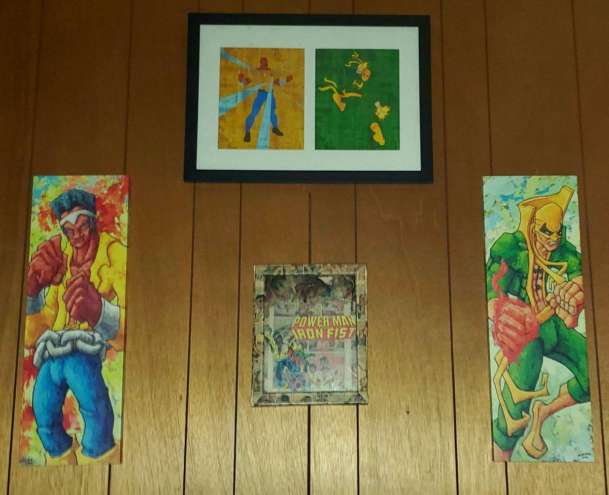 @GailSimone Hubby's Power Man and Iron Fist wall. #Marvel #geek #FantasyWall https://t.co/PE7KJejWYp