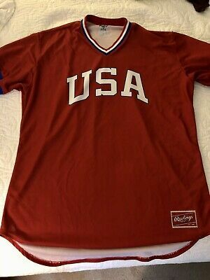 On Sale Now: Rare Team #USA #Baseball #Retro #1984 #Olympics #Jersey #Rawlings #Barstool - Red Size 50 #BarstoolSports https://t.co/mMXinx3OD4 via @eBay Only $45 with #FreeShipping #Ebay #forsale #onsale #ddtg #onebite https://t.co/vHgAocyGx1