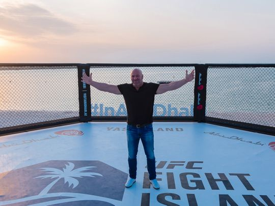 After 2 weeks of multiple health screens and asking everyone to quarantine, I surprised my closest inner circle with a trip to a private island where we could pretend things were normal just for a brief moment in time @danawhite #UFCFightIsland https://t.co/DXoMBLEyGD