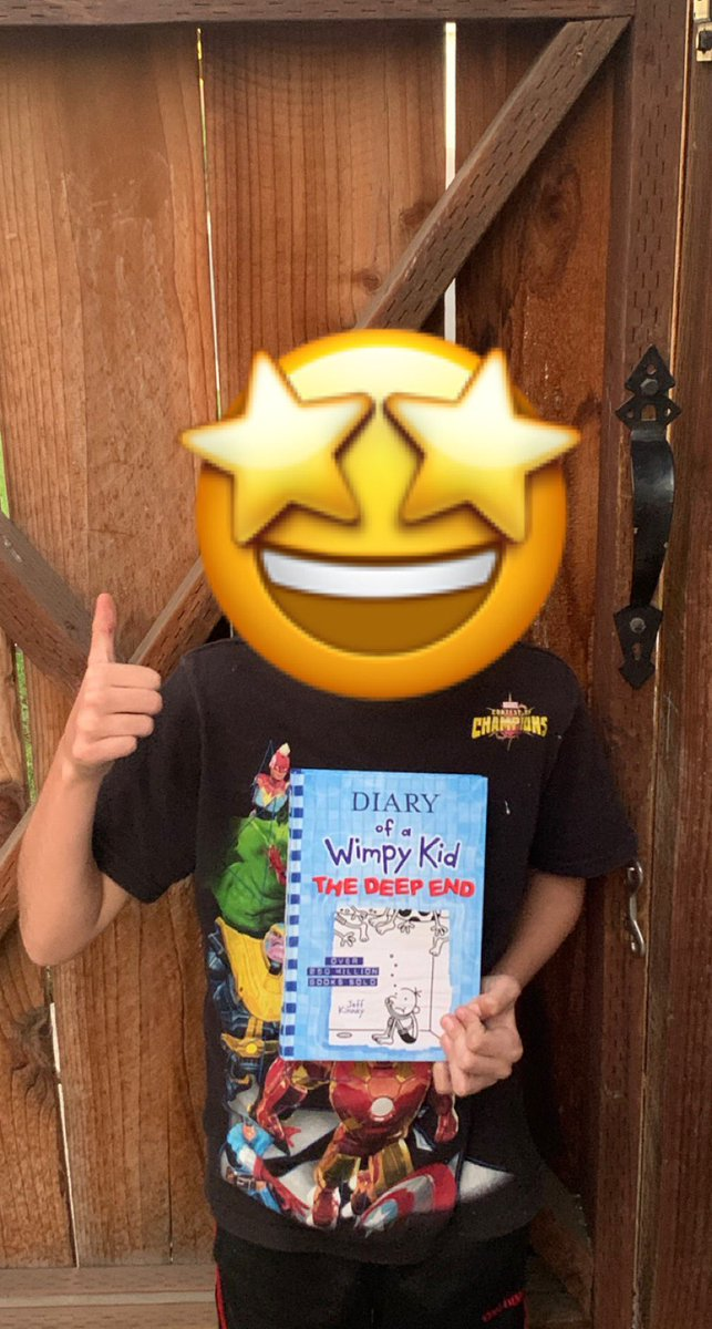 After patiently waiting his book has finally arrived! #diaryofawimpykid @wimpykid https://t.co/WUhpDzaKyg