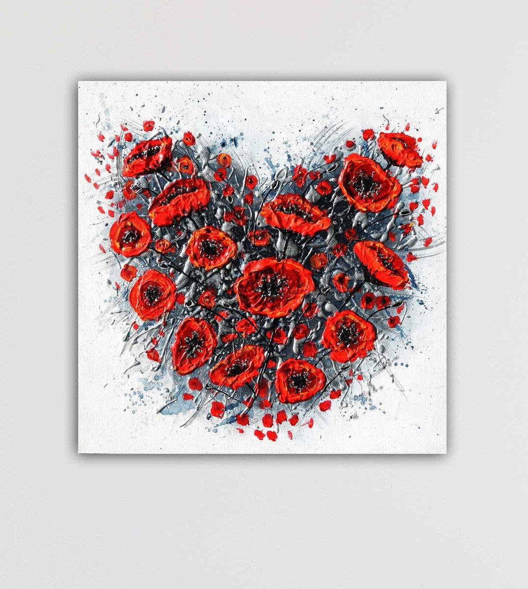 "New painting titled ""Love"" Now SOLD🔴 16x16 painting on canvas https://t.co/P6OxVHskTZ #heart #heartpainting #redpoppies #poppies #poppyflowers #poppypainting #originalpainting #art4sale #texturedpainting #thickpaint #impastoart #impasto #sharethelove #amandadagg https://t.co/ZSzN2EJn5C"