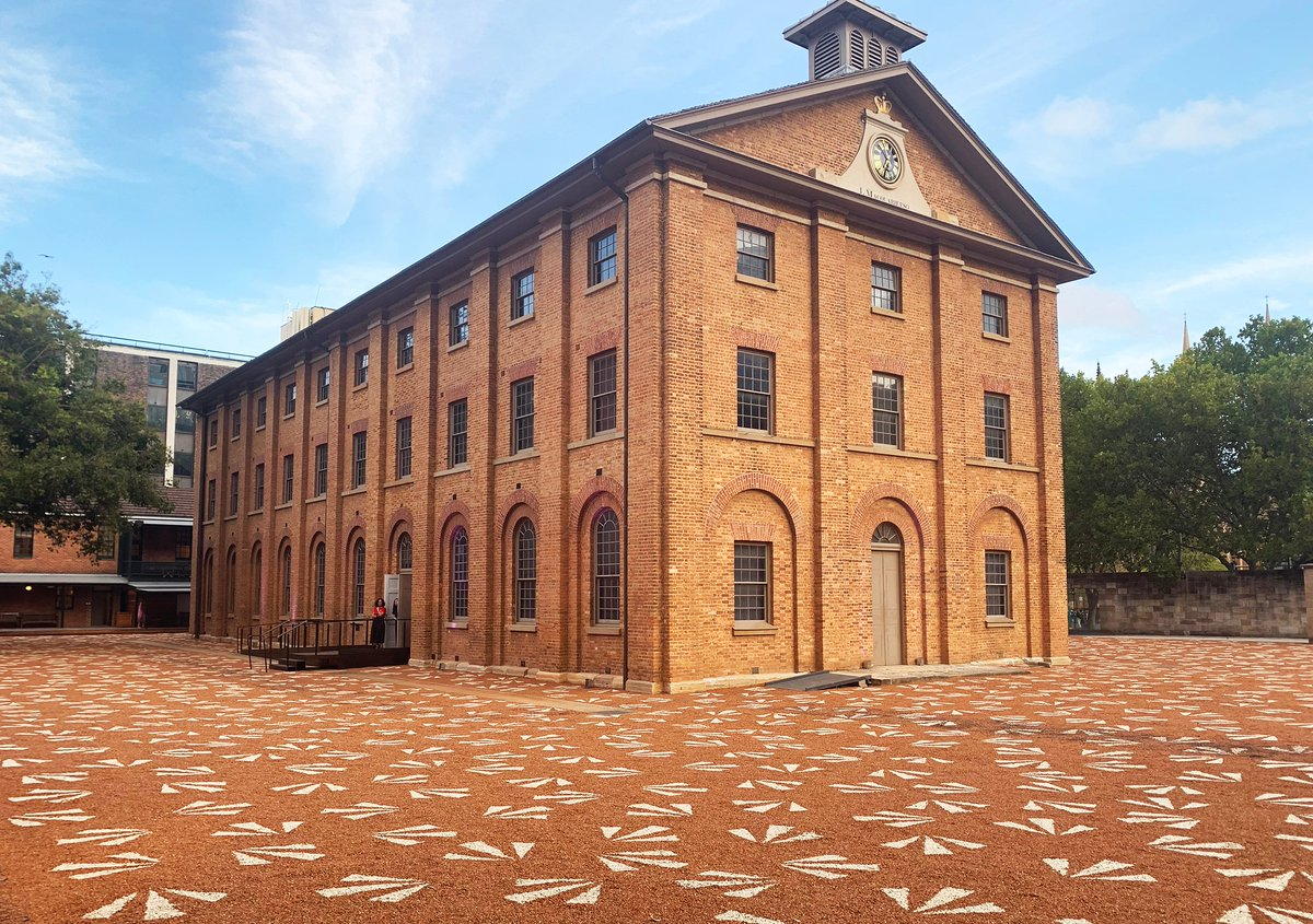 Now: In February 2020 after a significant period of renewal, the Hyde Park Barracks reopened with a new ground-breaking immersive visitor experience and a temporary installation untitled (maraong manaóuwi) by Sydney-based Wiradjuri/Kamilaroi artist Jonathan Jones. https://t.co/58NsoQUr4J