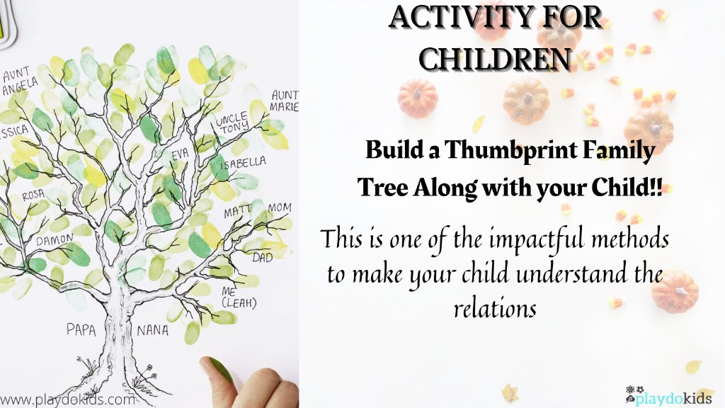 Build a Thumbprint Family Tree Along with your Child and see how well they can make it out!!  PC: @goodhousemag  #Activity #parenting #PArentingTips #familytree #relations #children https://t.co/97iYbFnlgk