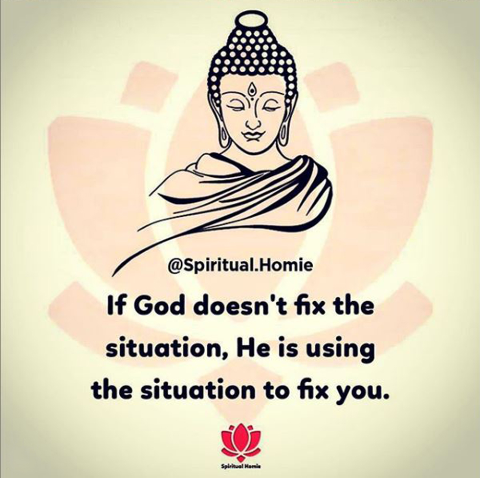 If God doesn't fix the situation, He is using the situation to fix you.  #LifeIsGood #Blessed #Purpose #Appreciation #Lessons #BeABetterPerson #TrustInGod #HaveFaith #BetterDaysAhead #Acceptance #InHisPerfectTime  #BusinessAccelerationNetwork #BANetwork #BANFam #LetsCollaborate https://t.co/YkJwtk21Mi