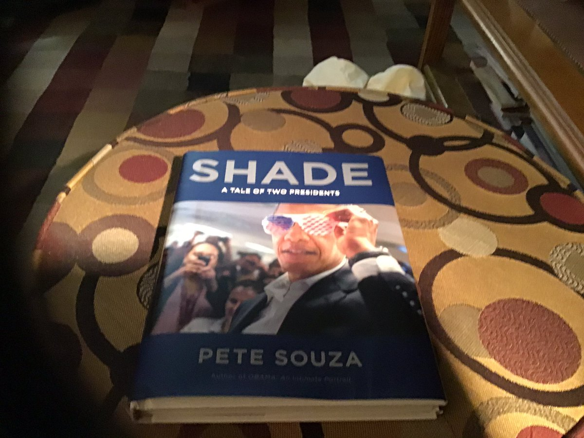 """We got our Pete Souza book """"Shade"""" today!  This is one book I will have to read a little at a time.  It is so moving, I can only imagine the emotions that Mr Souza must have felt watching Trump these past 4 years.  @PeteSouza  Thank you for sharing. https://t.co/wKpr0pes1L"""