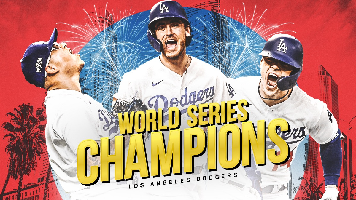 After 32 years!  The @Dodgers are your 2020 World Series champions! 🏆  #Dodgers | #WorldSeries https://t.co/oa6IA1VCMp
