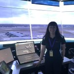 Image for the Tweet beginning: Air traffic controller Susie McGough