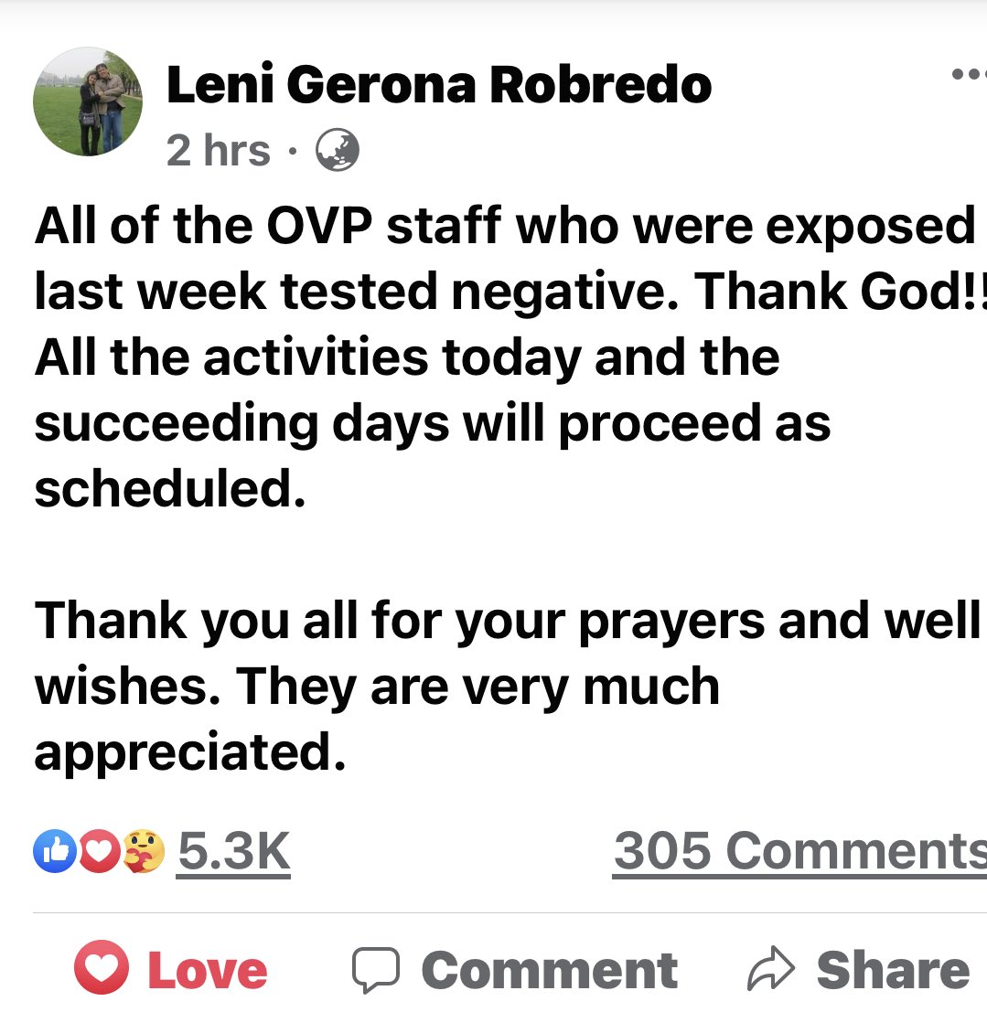 God is good🙏🏻 Keep up the good work and be well and safe always @VPLeniRobredo @lenirobredo @aikarobredo https://t.co/LVpBjdOQ2U