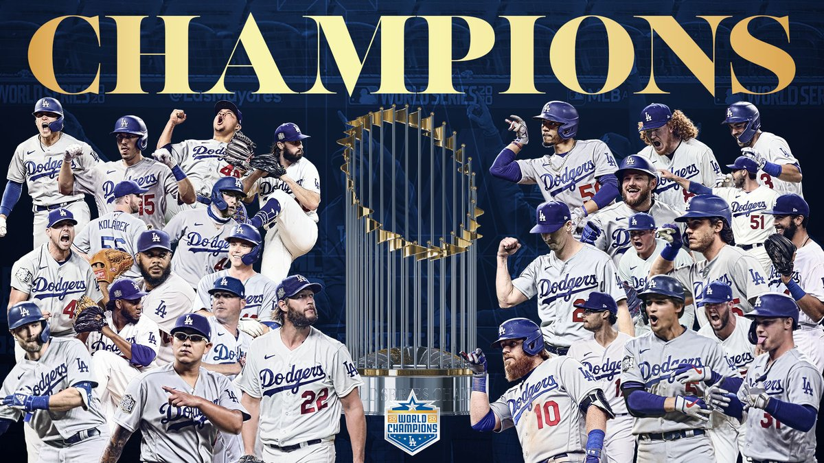 THE LOS ANGELES DODGERS ARE WORLD CHAMPIONS.