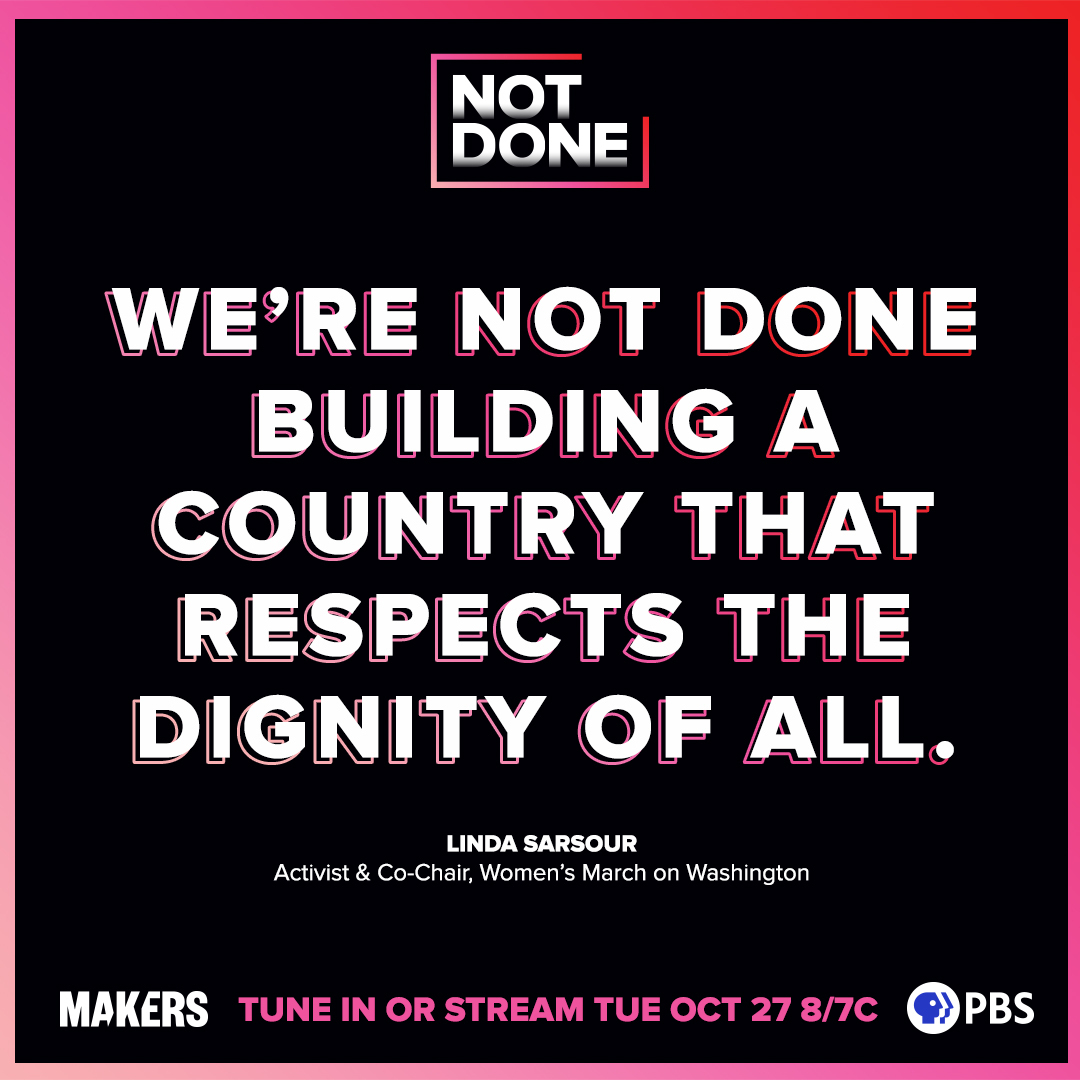 Are you fired up?! Get out and #VOTE! Lets make change! We are #NOTDONE! 👊 Stream NOT DONE: Women Remaking America on @PBS or notdonefilm.com