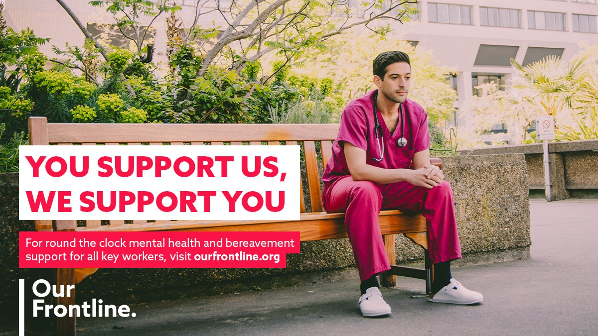 As more regions across the UK move into Tier 3, key workers continue toput their physical& mental health at risk to keep our nation going.  Everyone working on #ourfrontline can access free & confidential mental health and bereavement support at https://t.co/ZfgBwKXJVC https://t.co/Z8wCtOvVyp