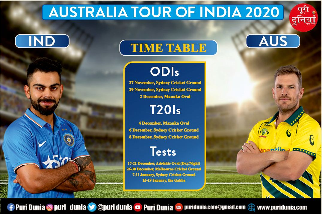 India Vs Aus T20 Squad 2020 India Vs Australia 2020 21 Full Schedule Date Time Squads Of All Matches Cricket Hindustan Times