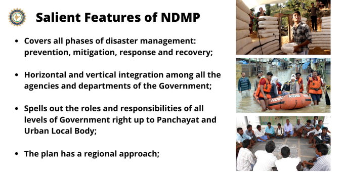 Here are some salient features of the National Disaster Management Plan. #NDMP 👇  #KnowYourNDMA #Achievements https://t.co/mMaDteo4Ta