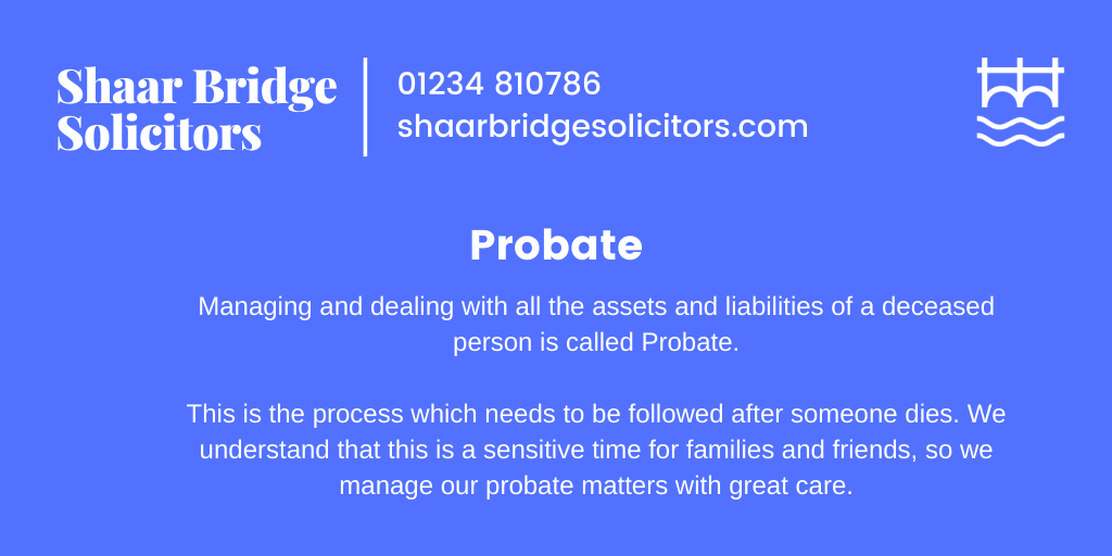Managing and dealing with all the assets and liabilities of a deceased person is called Probate.   Call us today for a free consultation on 01234 810786.  #Will #Wills #Probate #Legal #ShaarBridge #Solicitor #lawyer #lawfirm #workplace #solicitorfirm #bedford #lovebedford https://t.co/bAFRDhyy7s