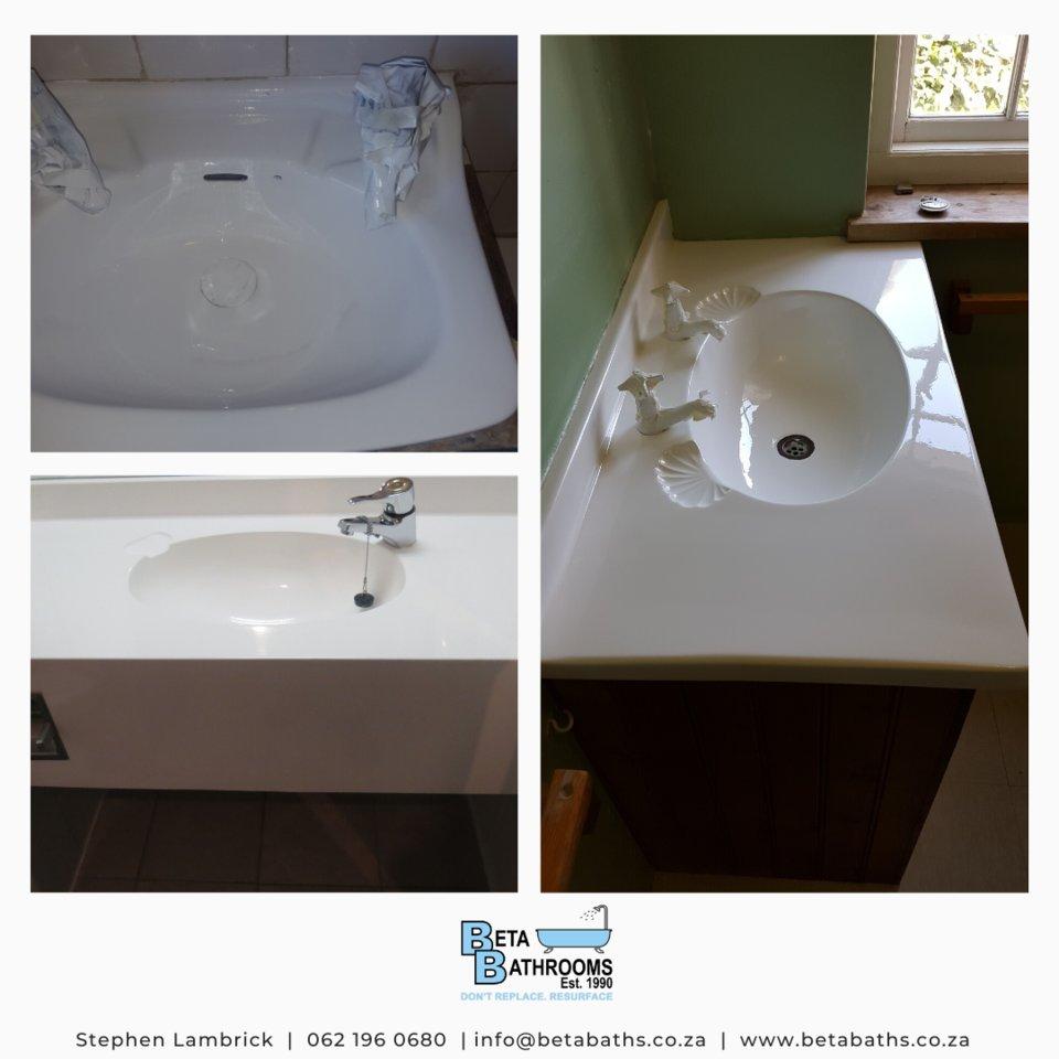 We resurface basins - bathroom basins, hair salon basins, kitchen basins - any basin and vanity slab - contact us for a quote.  https://t.co/itm7gpbtag #resurfacing #resurfaceyoursurface #betabaths #bathroom #beauty #design #resurfacingspecialist #resurface https://t.co/GiiBpSjGg4