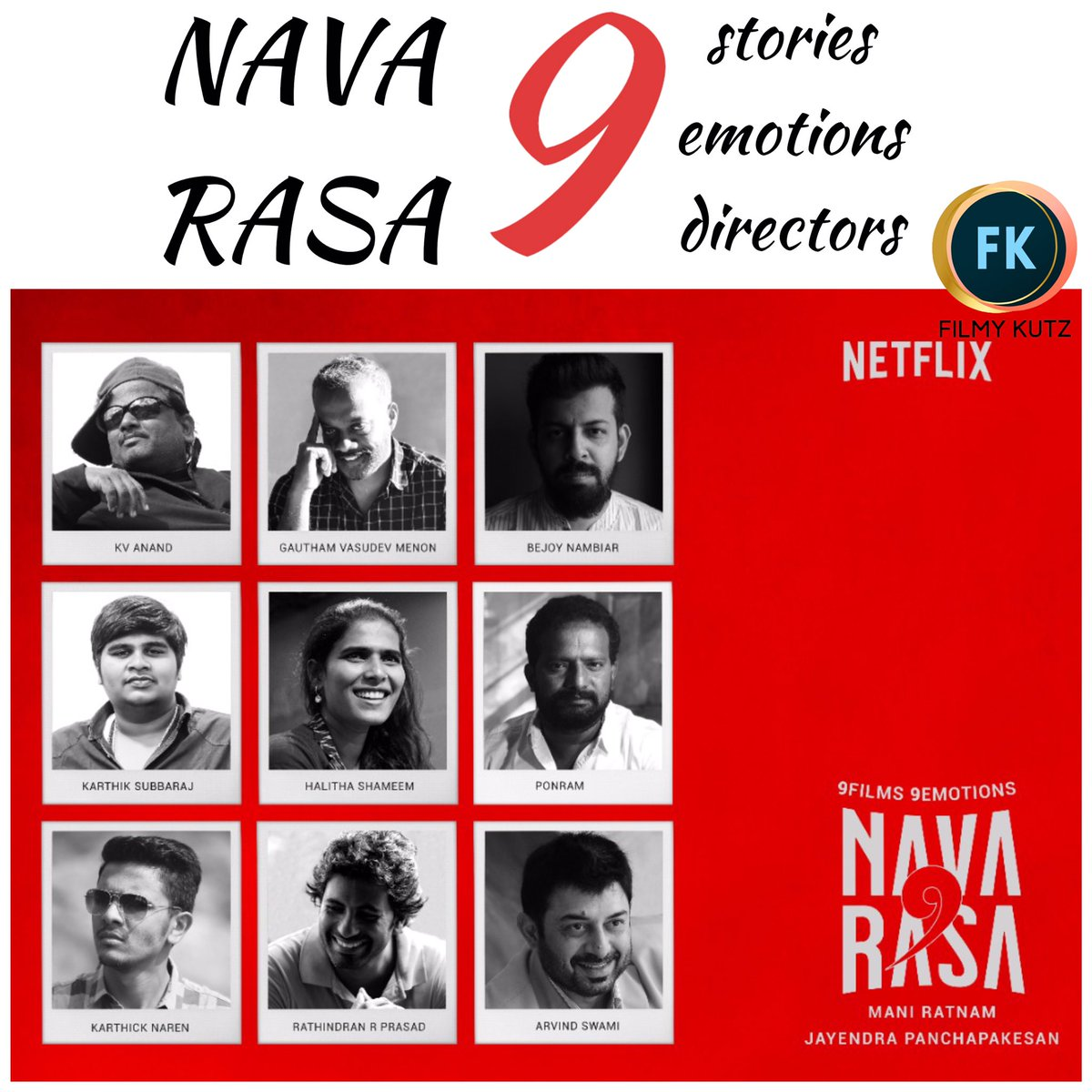 #NAVARASA - 9 films, 9 emotions and 9 story tellers   Coming very soon on #Netflix   Check the cast and crew details 👇 https://t.co/yIWIv7CXJK
