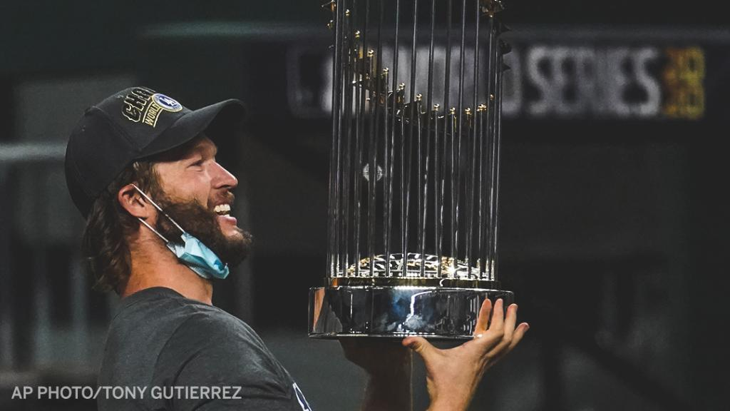 Clayton Kershaw:  🔵 2014 NL MVP 🔵 3x Cy Young winner 🔵 8x All-Star 🔵 2011 pitching Triple Crown 🔵 2011 Gold Glove winner 🔵 One no-hitter 🔵 Career 2.43 ERA 🔵 2,526 career strikeouts 🔵 Most strikeouts in postseason history  And now, a World Series champion 🏆 https://t.co/Vy7oxMdDAy