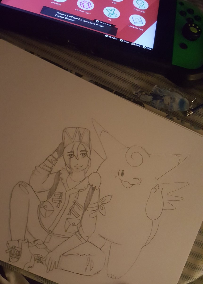 Tried drawing my trainer, and my star pokemon... hmmm... I guess it's fine. https://t.co/E9W8NDtOgg