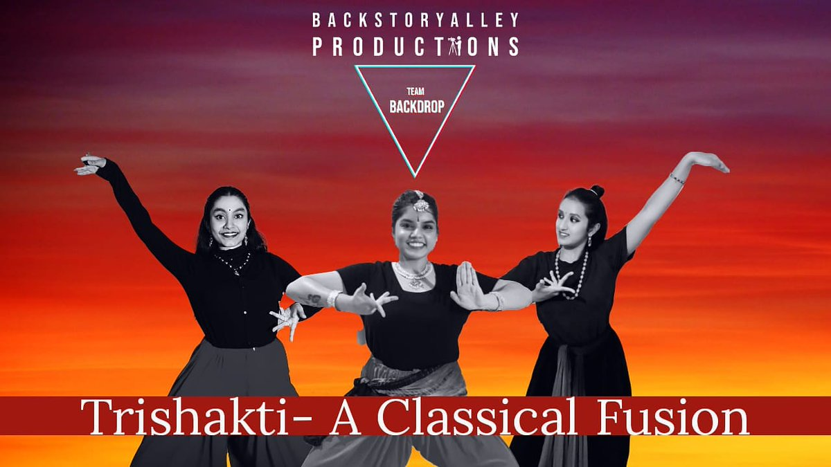 Backstoryalley Productions presents TeamBackDrop. ~ Trishakti - A classical fusion. Dance Video Coming soon!!! ~ Poster Design : @oreo_17_  ~ Stay tuned to the space!  #backstoryalley #backstoryalleyproductions #teambackdrop #dancersofinstagram #dancecrew #fusion #staytuned https://t.co/ylBgbUFj1x