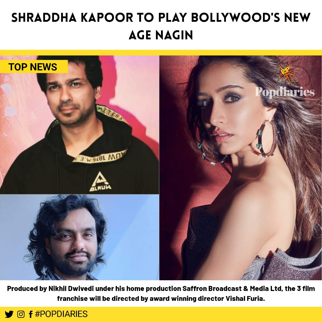 @ShraddhaKapoor  is one extremely talented artists. We're sure she's gonna be terrific as a naagin as well . . #shraddha #naagin #newage #shoot #shooting #newmovie #shraddhakapoor #bollywoodnews #tøpnews #updatenews #entertainer #entertainmentnews #ShraddhaKapoor https://t.co/6dcmEY8eGJ