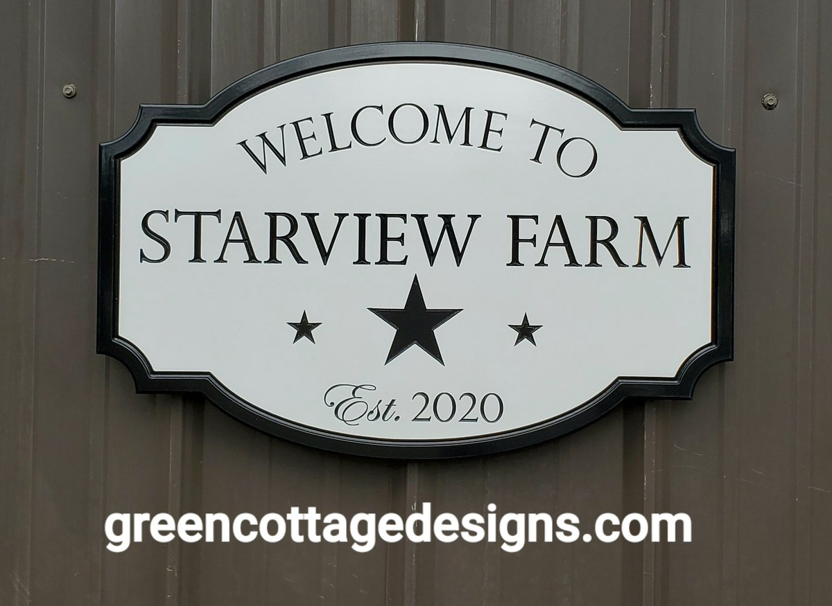 Farm Welcome Sign by https://t.co/mxWEx0l0jL Hanging & Mounting Signs; Single & Double Sided Signs #FarmSign #Welcome #WednesdayWisdom #Christmasgifts #stars #customsigns https://t.co/VhSixJm2fi