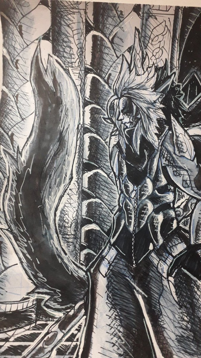 Dia 19 no Inktober!!! . #illustration #comic #manga #mangastyle #story #drawing #concept #conceptart #art #creative #characterdesign #ink #inktober #inktober2020 #inktoberday19 #demon #fantasy #armor #mystic https://t.co/eW2aCwWHCg