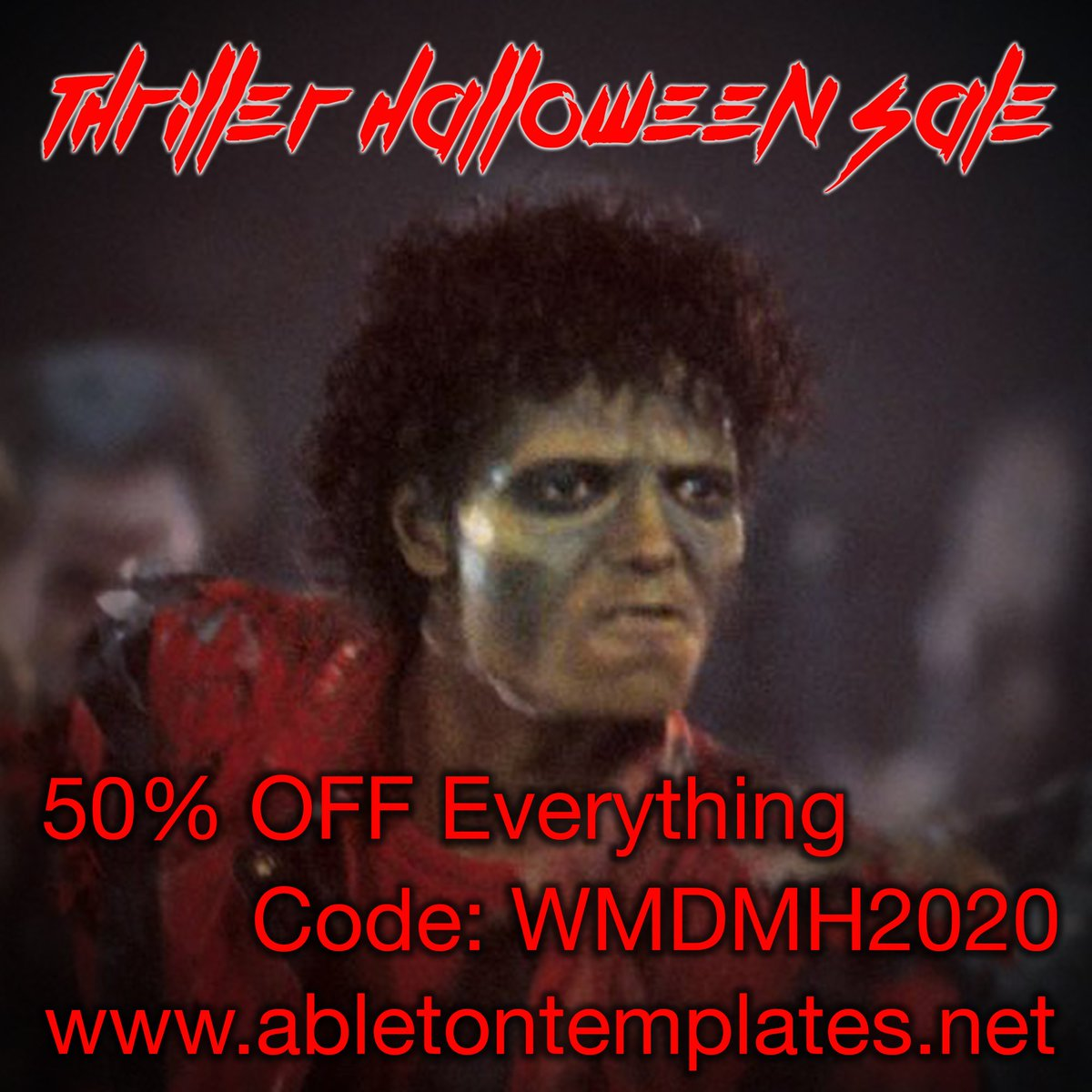 The Thriller sale is here, Get 50% OFF with code WMDMH2020 https://t.co/rMPEG2f5vT #musicproduction #ableton #ableton10 #abletontemplates #abletonlive https://t.co/2RkZxY0Pno