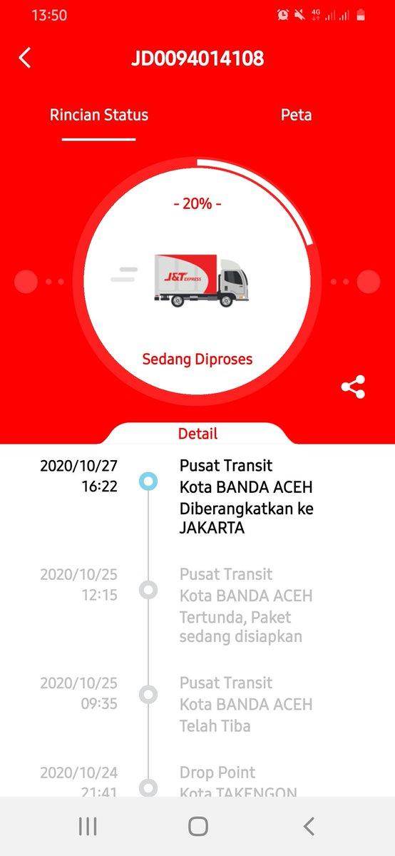 J T Express Indonesia On Twitter Halo Kaka Saat Ini Status Paket Tsb Sedang On Process Di Banda Aceh Gateway Menuju Jakarta Gateway Mohon Kesediaannya Untuk Menunggu Terima Kasih Https T Co Crvpcdxjj2