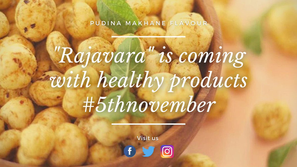 Be ready to stay fit with good taste. We are coming on the 5th of November. @rajavaratrends  #rajavaratraditions #5thNovember #followformore #likesforlikes #foodie #foodporn #foodhub #foodphotography #foodblogger #foodlover https://t.co/OGkb8cGY35