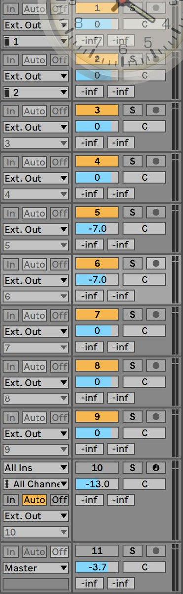 ワカル方教えて下さい〜〜!!! #abletonLive #Ableton それぞれの音を別のスピーカーから出しつつ、クリック音とそのスピーカーから出てる音をモニターする方法どなたかご存知ありませんか! そのクリック音はスピーカーからは出ず、自分のイヤホンだけでモニターしたいのです。どなたか〜〜!! https://t.co/6YAhNBWQpk