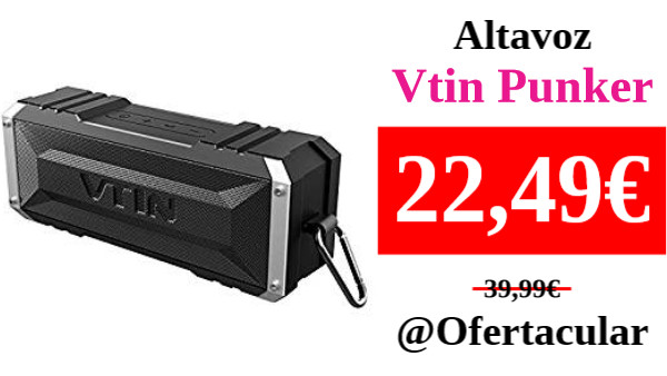 ‼️MIRA LAS VALORACIONES‼️ 👁🗨 #Ofertacular #Amazon #Vtin #chollo #oferta #ganga  ⚫️ Altavoz bluetooth estéreo premium 20W Vtin Punker   🛒: ➡️ https://t.co/q52Ecprp55 ⬅️  🟢 https://t.co/SdTO2UbebI https://t.co/WXr5YOA8uG