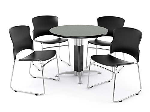 """ad: OFM Core Collection Breakroom Bundle, 36"""" Round Metal Mesh Base Multi-purpose Table in Gray Nebula, 4 Multi-use Plastic Stack Chairs in Black (PKG-BRK-027-0006) ASIN: B019Z10676 Category: Kitchen & Dining Features... - https://t.co/i07W6g69gN #commercial #furniture https://t.co/YoscqPS9ar"""