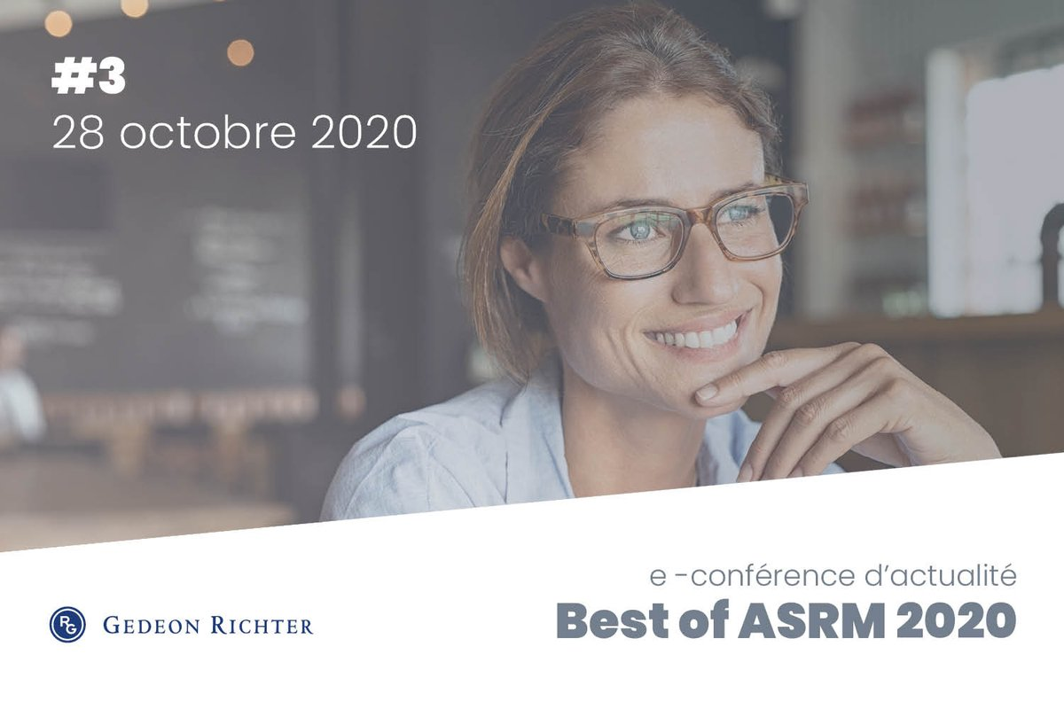 📌 Aujourd'hui à lieu le 3ème et dernier rendez-vous du Best of #ASRM2020 !  Inscrivez- vous ici : https://t.co/CTE6aLBkcZ pour découvrir toutes les Actualités Cliniques en AMP, proposé par Gedeon Richter à 13h. @ReprodMed  #ASRM #Endométriose #Gynécologie #Obstétrique #PMA https://t.co/7H86C75nxQ