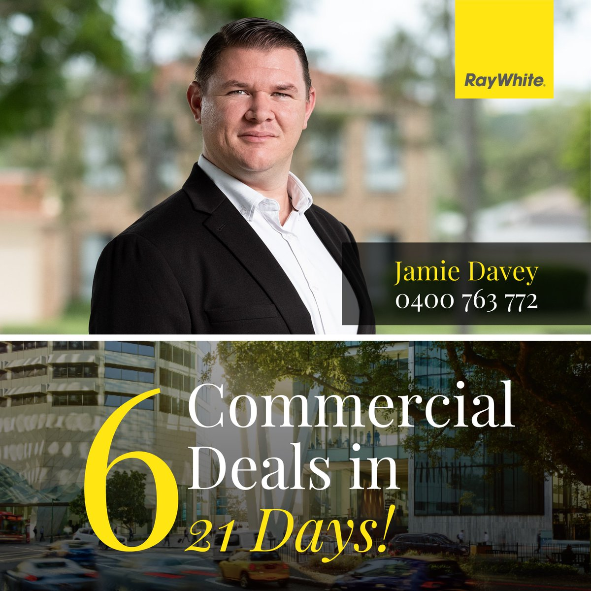 When we do commercial, we do it like this! 🔥  ☎️ 𝙅𝙖𝙢𝙞𝙚 𝘿𝙖𝙫𝙚𝙮 - 0400 763 772  #RayWhiteMarsden #Commercial #JamieDavey https://t.co/yvx9urxtfc