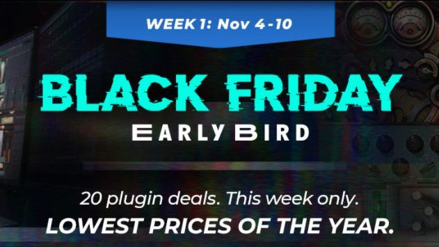 Waves' Black Friday Early Bird plugin deals have landed – save up to 91% on software buff.ly/34UknYc