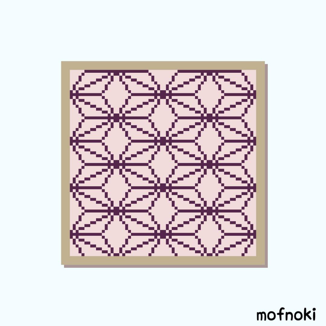 模様 書き方 麻の葉 てまり『麻の葉』の作り方