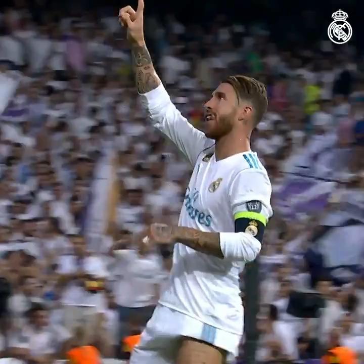 Replying to @realmadrid: 4️⃣ @SergioRamos ©️ Capitán 🛡️ Defensa 🔝 Leyenda 🎯 100 goles #RealFootball | #HalaMadrid