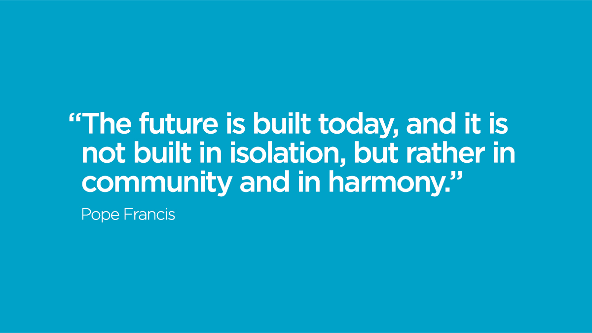 Words of wisdom and encouragement from @Pontifex.