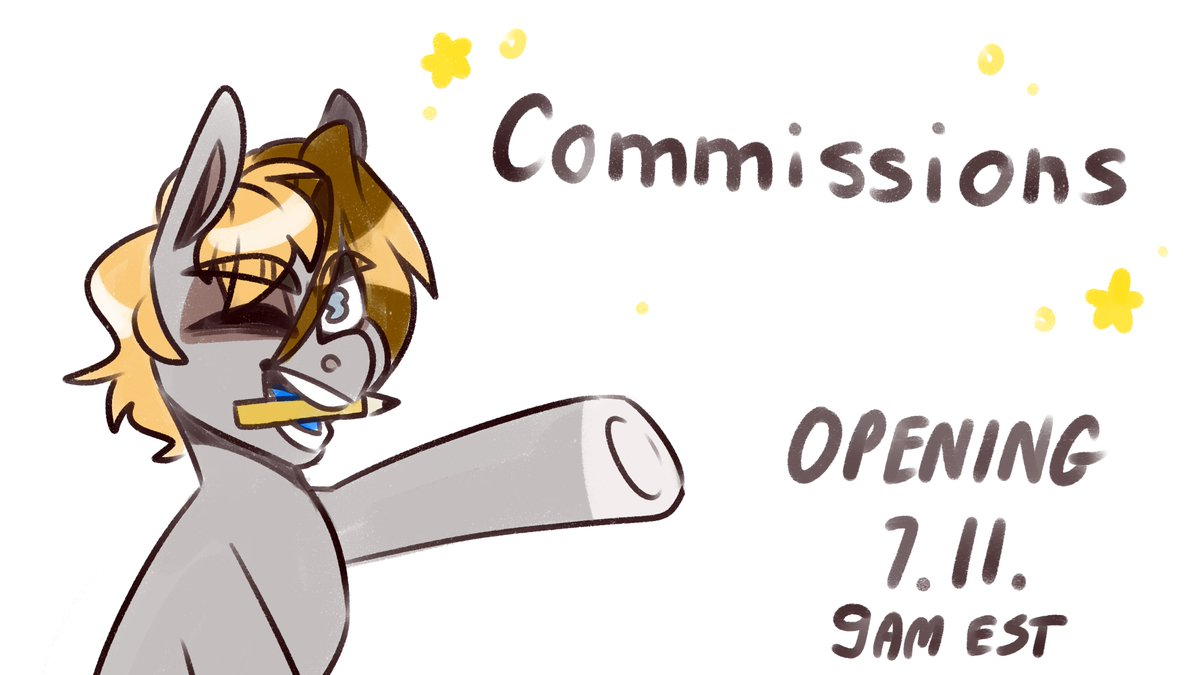 ✨COMMISSIONS OPENING THIS SATURDAY✨ I'm going to open 5 slots The form opens 9AM EST.