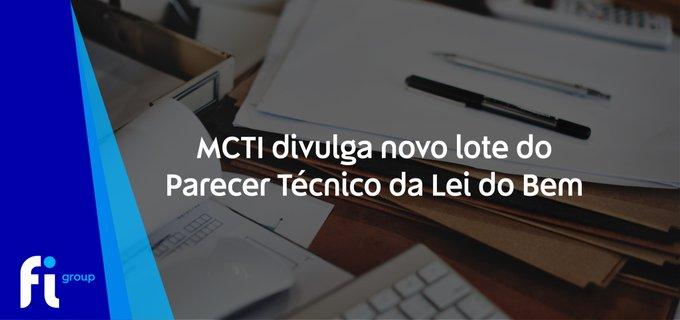 💡#LeidoBem: O MCTI disponibilizou hoje o 21º lote do Parecer Técnico da Lei do Bem referent....