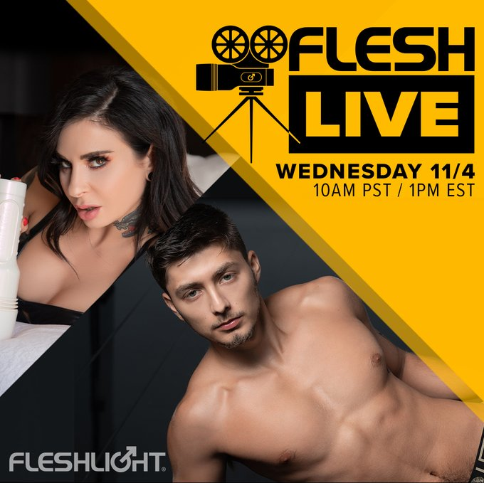 Quarantine and chill on this week's Fleshlive with brilliant host and Fleshlight Girl, the iconic @JoannaAngel