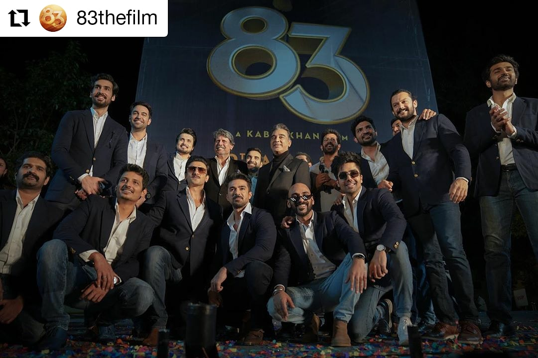 #83thefilm  @83thefilm • • • • • • The legends stand tall! 🏆🏏 Whistle podu for the reel and real heroes of 83! #83FirstLook #ThisIs83